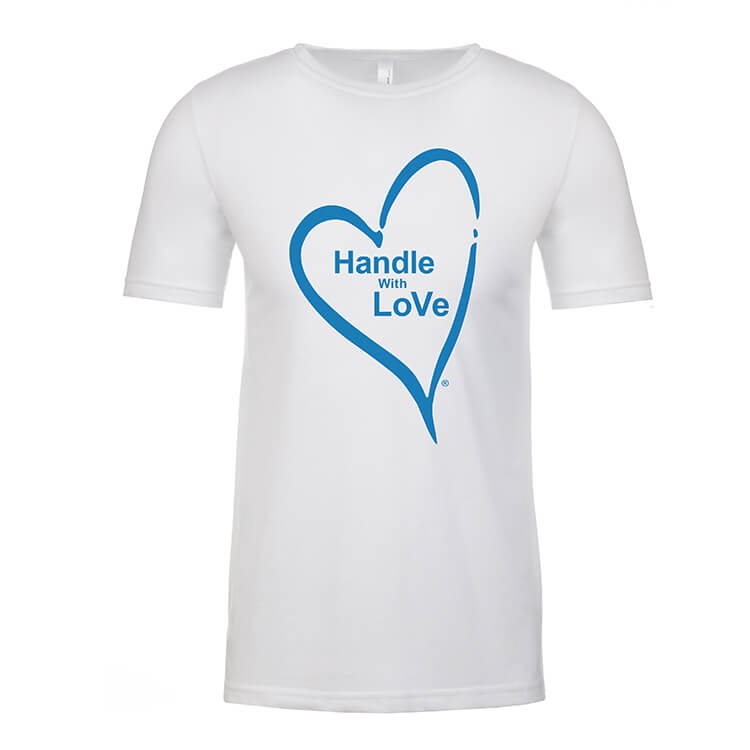 Original Tee: White with blue heart