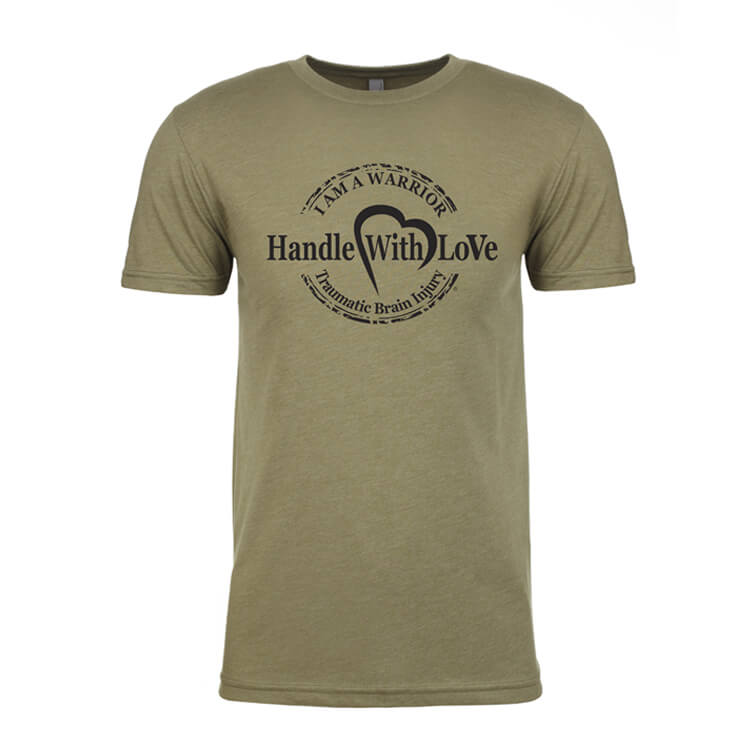 Warrior Tee: Military green with black logo