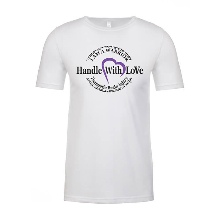 Warrior Tee: White with black and purple logo